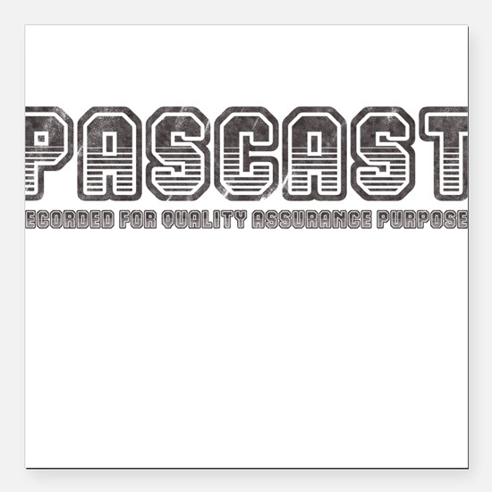 "PASCast Logo Square Car Magnet 3"" x 3"""