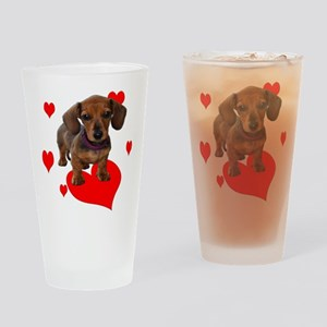 Love Dachshunds Drinking Glass