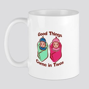 Good things come in twos (boy & girl twins) Mug