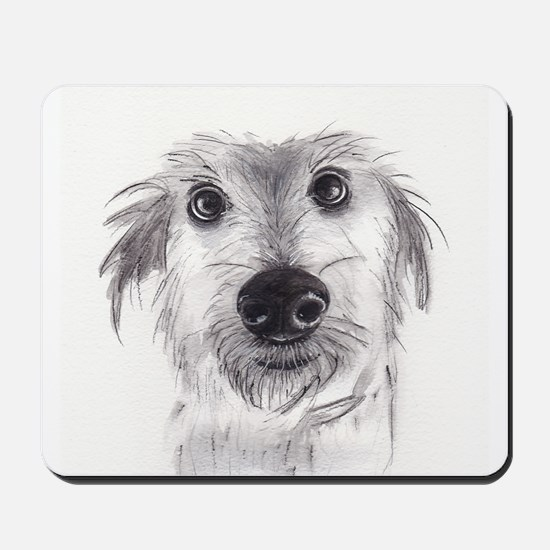 Cute scruffy lurcher Mousepad