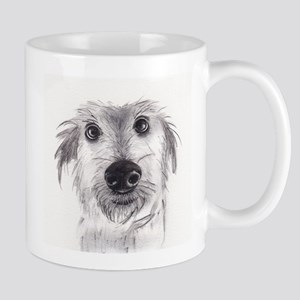 Cute scruffy lurcher Mug