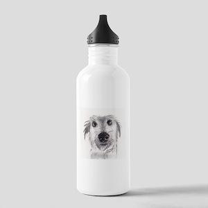 Cute scruffy lurcher Water Bottle