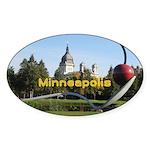Minneapolis Sticker (Oval 10 pk)