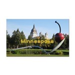 Minneapolis Rectangle Car Magnet