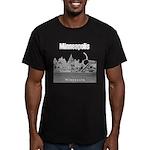 Minneapolis Men's Fitted T-Shirt (dark)