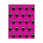 Pink Black Ninja Bunny Twin Duvet