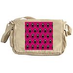Pink Black Ninja Bunny Messenger Bag