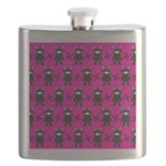 Pink Black Ninja Bunny Flask