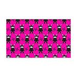 Pink Black Ninja Bunny Wall Decal