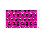 Pink Black Ninja Bunny Banner