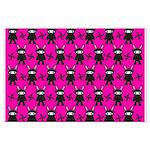 Pink Black Ninja Bunny Posters