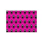 Pink Black Ninja Bunny 5'x7'Area Rug