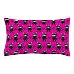 Pink Black Ninja Bunny Pillow Case