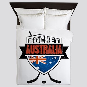 Australian Ice Hockey Shield Queen Duvet