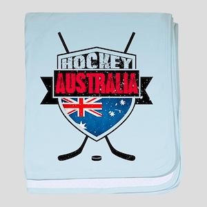 Australian Ice Hockey Shield baby blanket