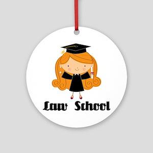 Cute Law School Ornament (Round)