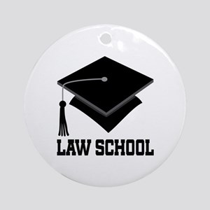 Law School Graduation Ornament (Round)