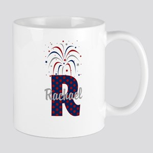 4th of July Fireworks letter R Mug