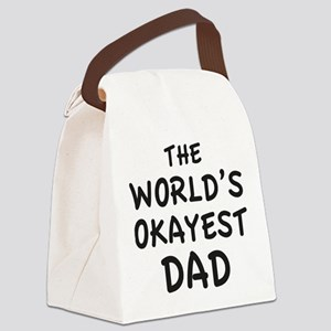 The World's Okayest Dad Canvas Lunch Bag