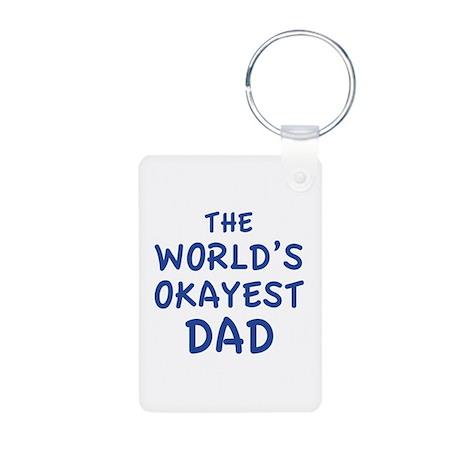 The World's Okayest Dad Aluminum Photo Keychain