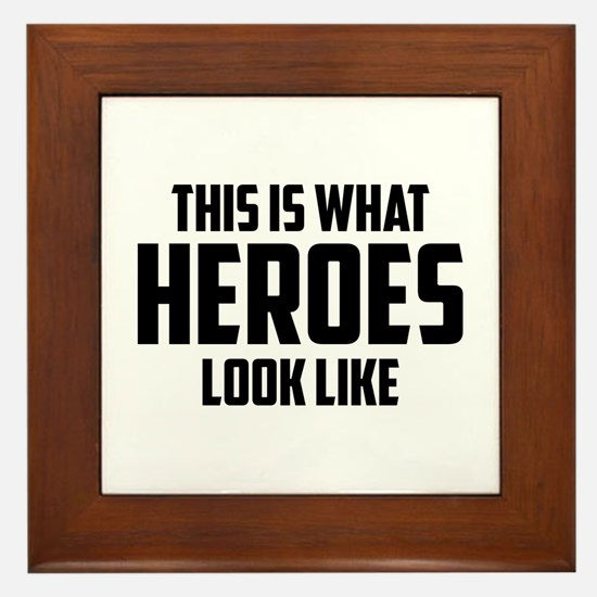 This is what HEROES look like Framed Tile