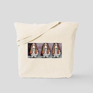 Bassett Hound Trio Tote Bag
