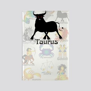 Whimsical Taurus Rectangle Magnet
