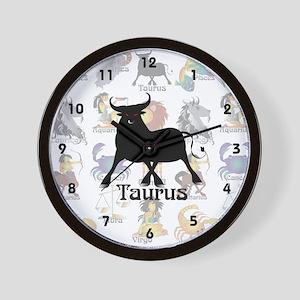 Whimsical Taurus Wall Clock