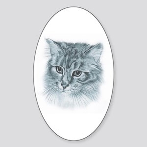 Maincoon Oval Sticker