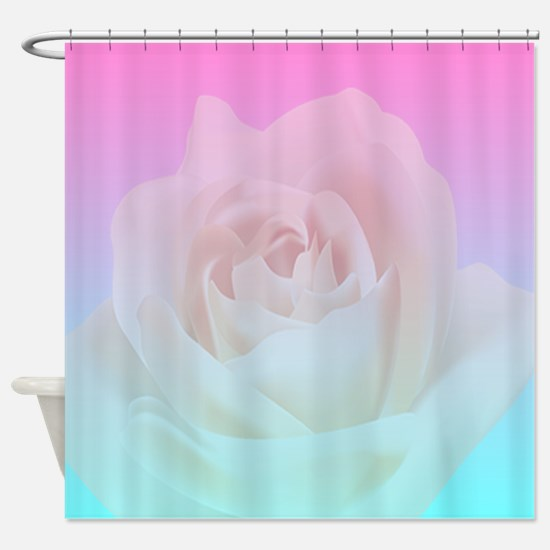 Gradient Rose Cat Forsley Designs Shower Curtain