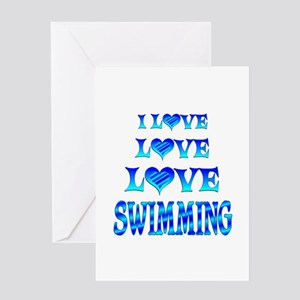 Love Love Swimming Greeting Card