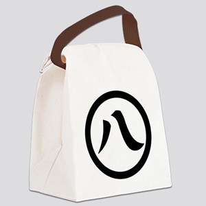 Kanji numeral eight in circle Canvas Lunch Bag
