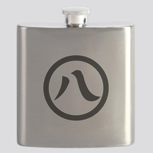 Kanji numeral eight in circle Flask