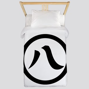 Kanji numeral eight in circle Twin Duvet