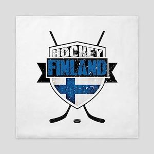 Suomi Finland Hockey Shield Queen Duvet