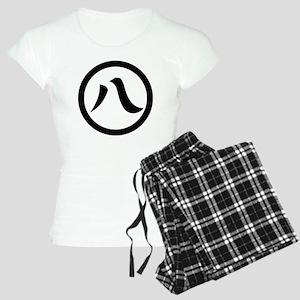 Kanji numeral eight in circle Women's Light Pajama
