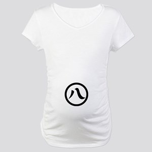 Kanji numeral eight in circle Maternity T-Shirt
