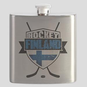 Suomi Finland Hockey Shield Flask