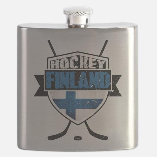 Suomi Finland Hockey Shield Flask