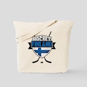 Suomi Finland Hockey Shield Tote Bag