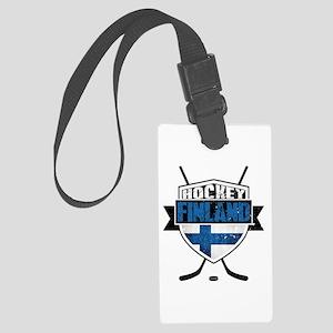 Suomi Finland Hockey Shield Luggage Tag