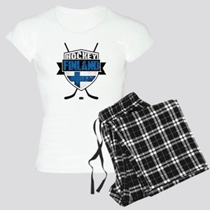 Suomi Finland Hockey Shield Pajamas
