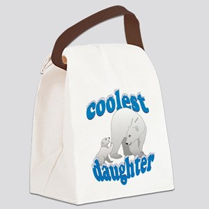 Coolest Daughter Canvas Lunch Bag