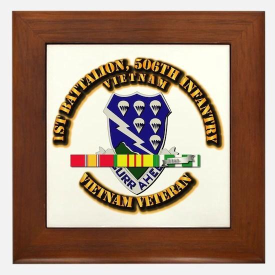 Army - 1st Battalion, 506th Infantry Framed Tile