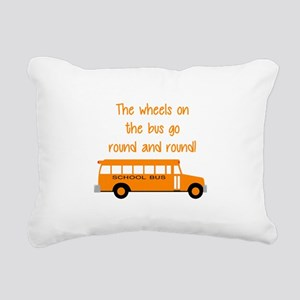 the wheels on the bus Rectangular Canvas Pillow