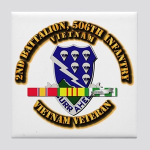 Army - 2nd Battalion, 506th Infantry Tile Coaster