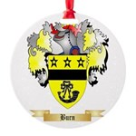 Burn Round Ornament