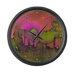 The Woods II Magenta Large Wall Clock