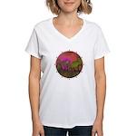 The Woods II Magenta Women's V-Neck T-Shirt