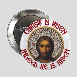 """Christ Is Risen Pascha 2013 EN 2.25"""" Button"""